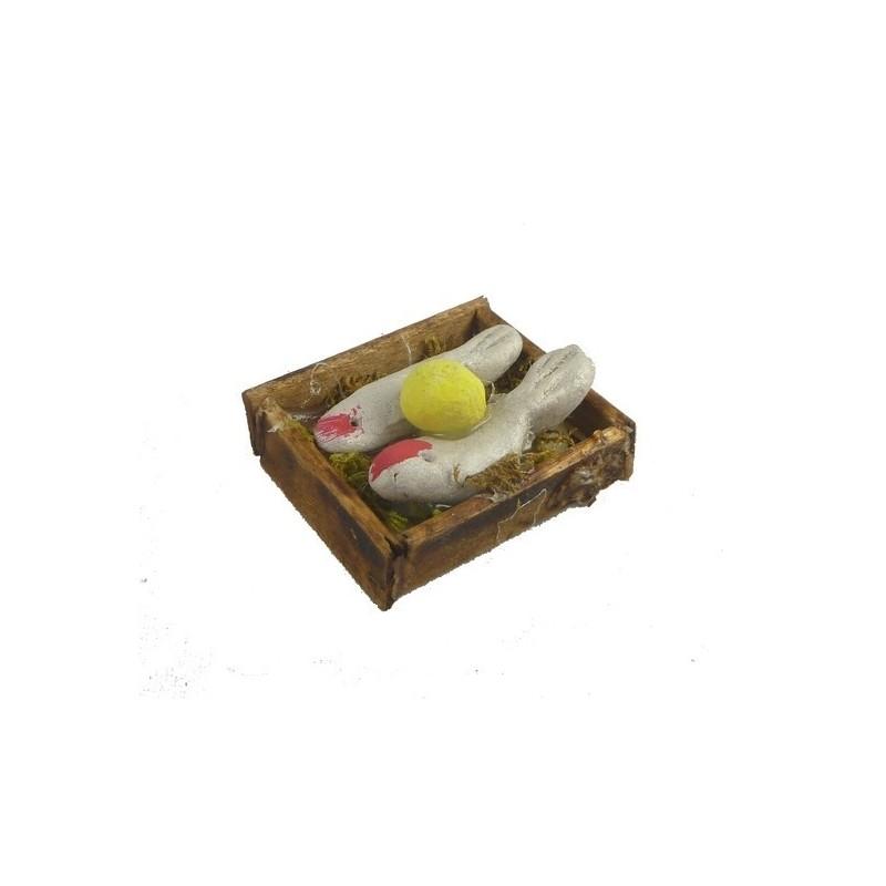 Mondo Presepi Cassetta pesce Bianco cm 3,5x2,7