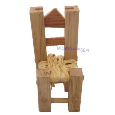 Sedia in legno cm 5 con seduta impagliata