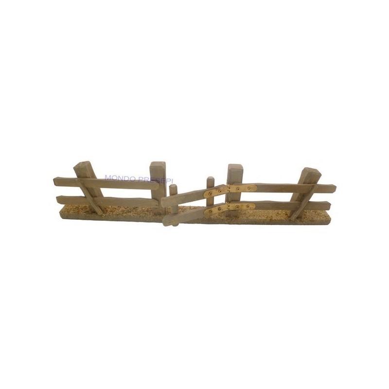Mondo Presepi Staccionata in legno con cancello apribile