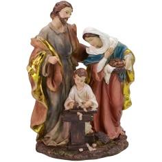 Sacra Famiglia in resina cm 13x9x21 h cm Mondo Presepi
