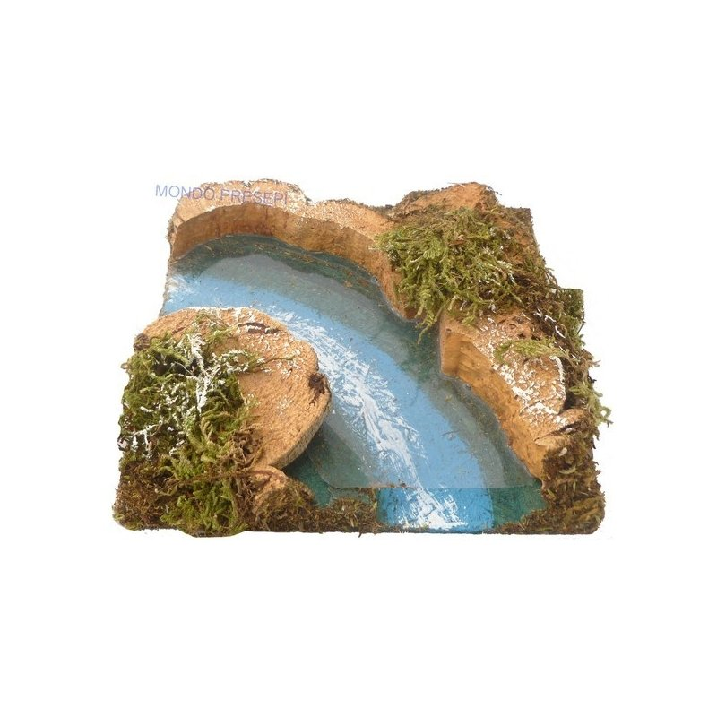Curved river with depth effect