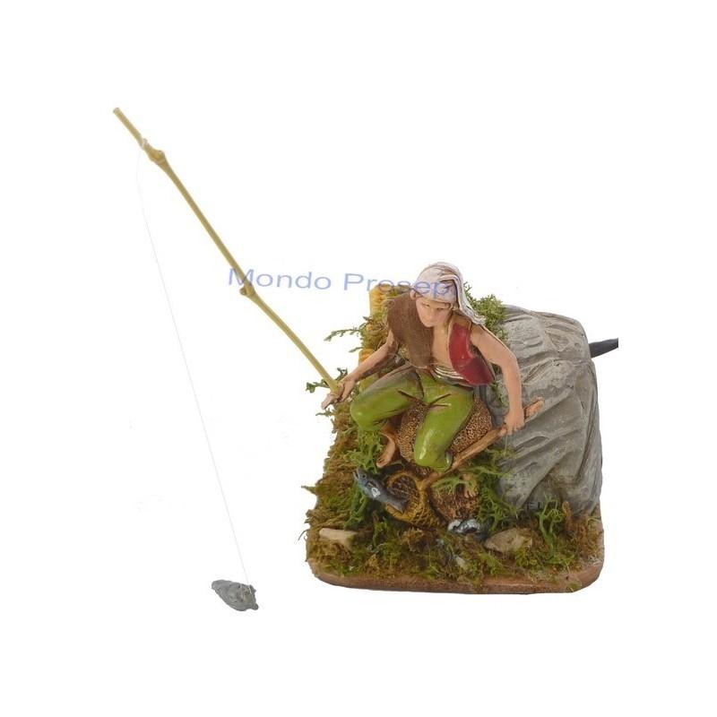 Mondo Presepi Pescatore Landi con movimento