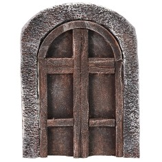 Arched wooden door for statues cm 6-8 h