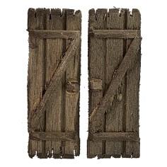 2 wooden shutter doors set cm 3,2x4,6 h.