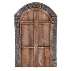 Double door with wooden arch for statues 12-14 cm h