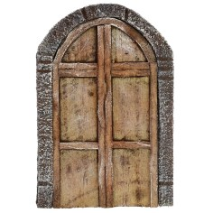 Double door with wooden arch for statues 10-12 cm h