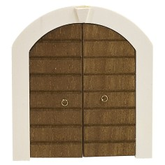 Double wooden door with frame for statues cm 10 h