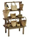 Market stall with baskets cm 10x5,5x15 h for Nativity scene