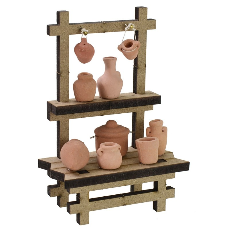 Market stall with amphorae cm 10x5,5x15 h for Nativity scene