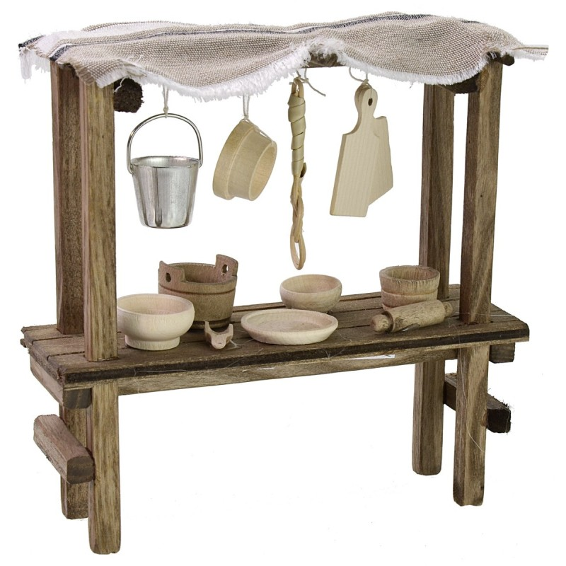 Covered stall with assorted tools cm 15x5x15 h for