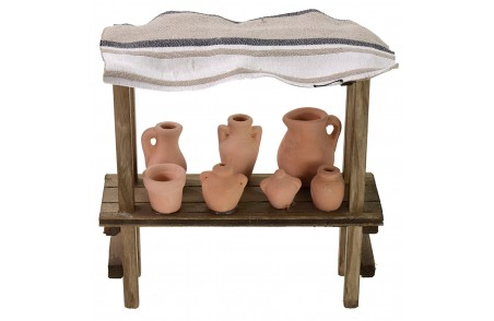 Market stall covered with amphorae cm 15x5x15 h for Nativity