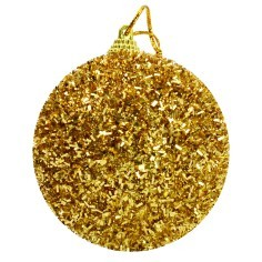 Ball gold with clowning and glitter ø 8 cm Christmas