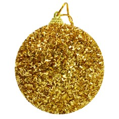 Balloon gold with clowns and glitter ø 6 cm Christmas