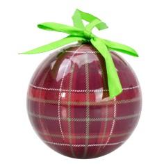 Ball with Scottish decorum ø 8 cm Christmas