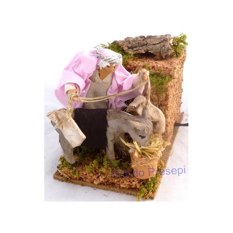 Osteria con statue in terracotta in movimento