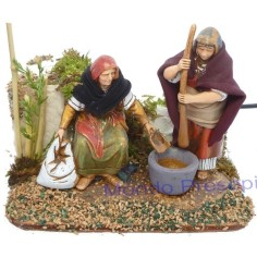 Double movement women with pestle