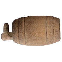 Botte in legno con rubinetto cm 4,1X2 ø Mondo Presepi