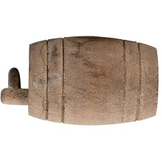 Botte in legno con rubinetto cm 4,9x2,8 ø Mondo Presepi
