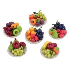 Assorted fruit plate ø 2 cm