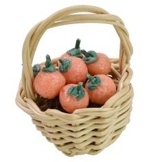 Wicker basket with oranges ø 2,5x3 h cm