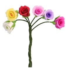Bunch of assorted roses h 7 cm