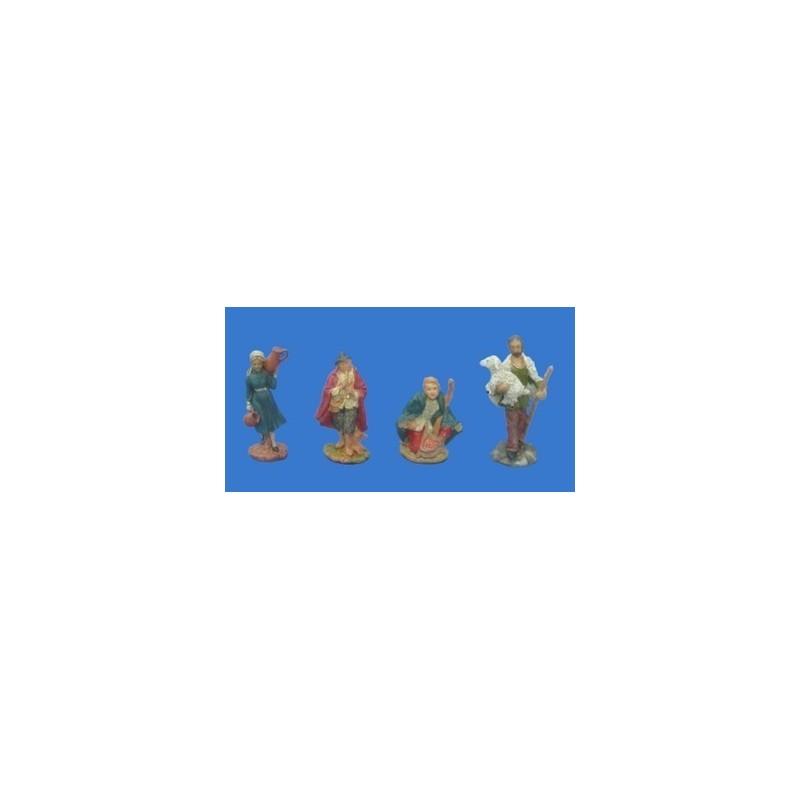Set 4 pastori cm 10 in resina - Cod.
