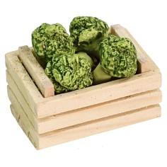 Cassetta con broccoli cm 3,5x2,5x2,6 h Mondo Presepi