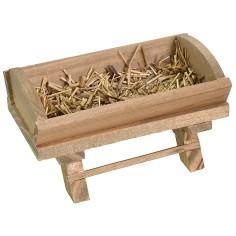 Mangiatoia in legno con fieno cm 8,5x4,8x4,8 h Mondo Presepi