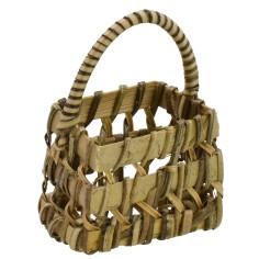 Basket with wicker handle cm 4x3x6 h