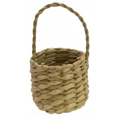 Basket with wicker handle ø 3.5 cm x 6.5 h