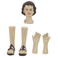Testa, mani, piedi uomo per statue cm 12-15 h Mondo Presepi