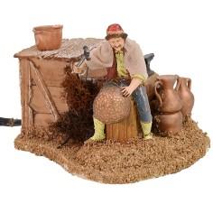 Coppersmith in motion series 10 cm Landi Moranduzzo