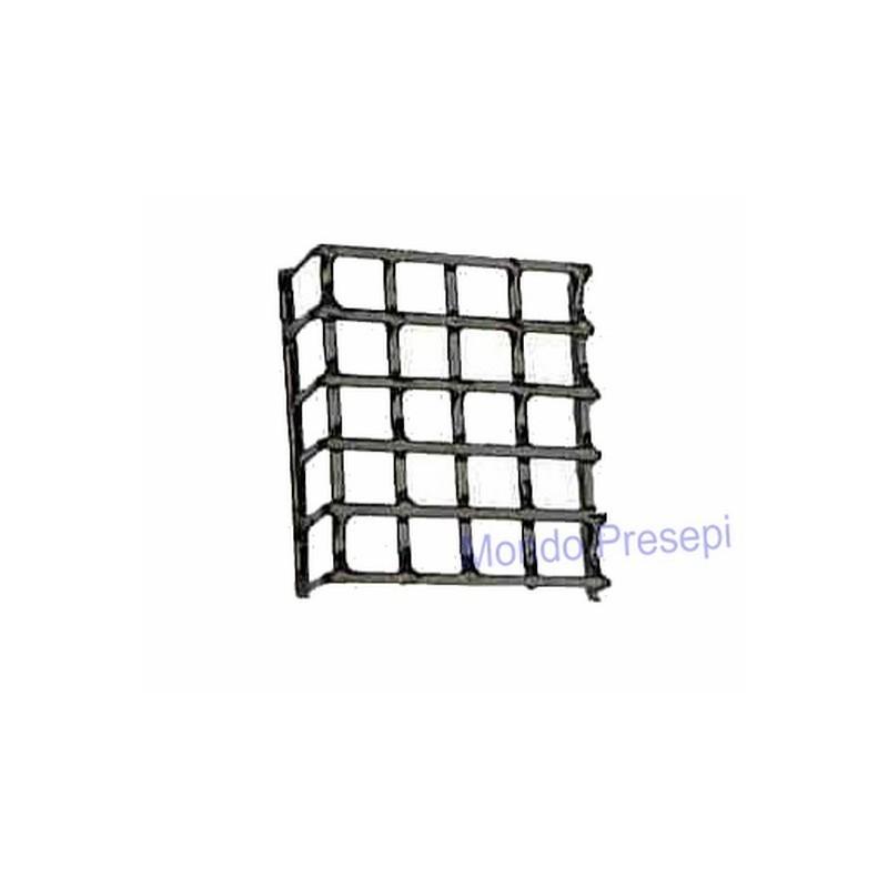 Inferriata in metallo cm 3x3,5 Mondo Presepi