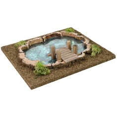 Lake with depth effect for nativity scene cm 25x23x5 h