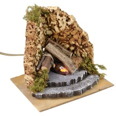 Fire for functioning nativity scene cm 16x14,5x14 h