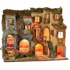 Borgo napoletano stile 700' illuminato con forno funzionante cm