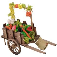 Carretto con frutta e verdura cm 9,2x3,8x4,4 h Mondo Presepi