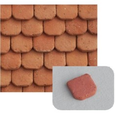 Tegole Romane in terracotta mm 17x27 busta da 75 pz