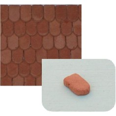 Flat terracotta tiles mm 8x5 available in: