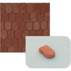 Tegole piatte in terracotta mm 8x5 busta da 140 pz