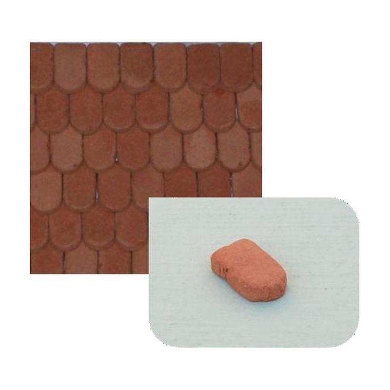 Tegole piatte in terracotta mm 8x5 disponibile in: Mondo Presepi