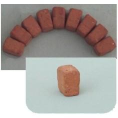 Mattoncini a cuneo in terracotta mm 7x7x4 busta da 50 pz