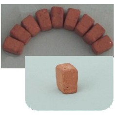 Wedge bricks in terracotta 7x7x4 mm bag of 50 pcs