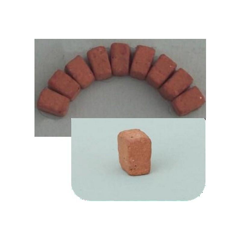 Mondo Presepi Mattoncini a cuneo in terracotta mm 7x7x4 busta