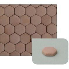 Hexagonal floor Ø10mm B. in terracotta available in: