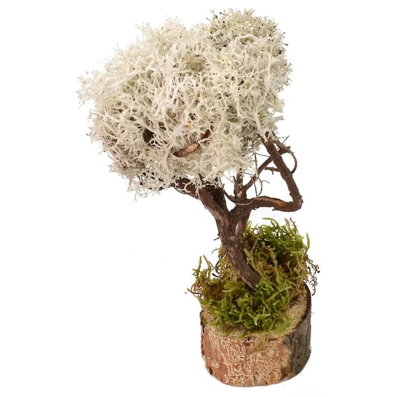 Albero con foglie bianche cm 4,5x5x15,5 h