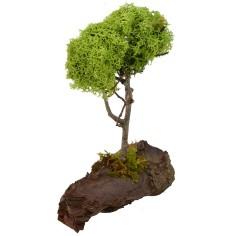 Albero con chioma verde con base cm 14x7,5x21 h Mondo Presepi