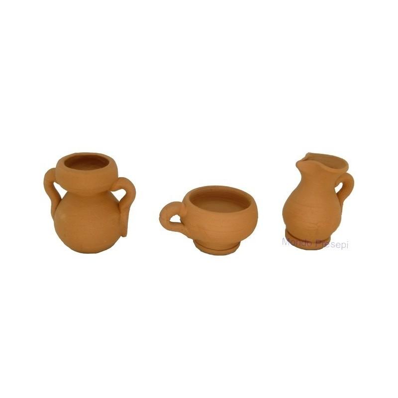 Set 3 amphorae 2.5 cm - 2401