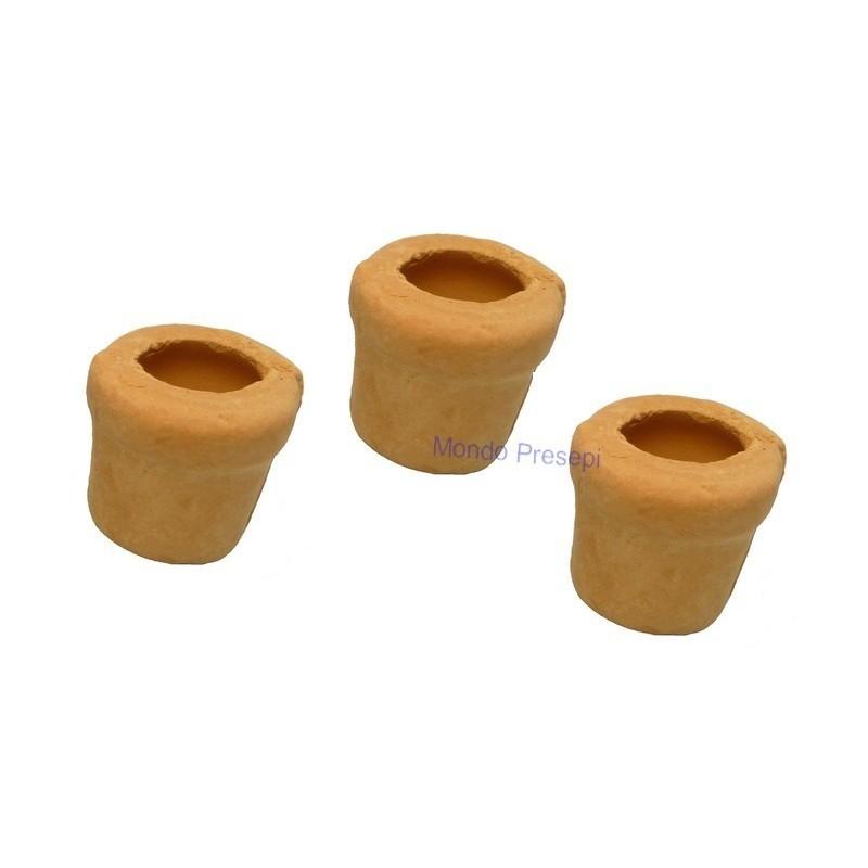 Set of 3 terracotta vases
