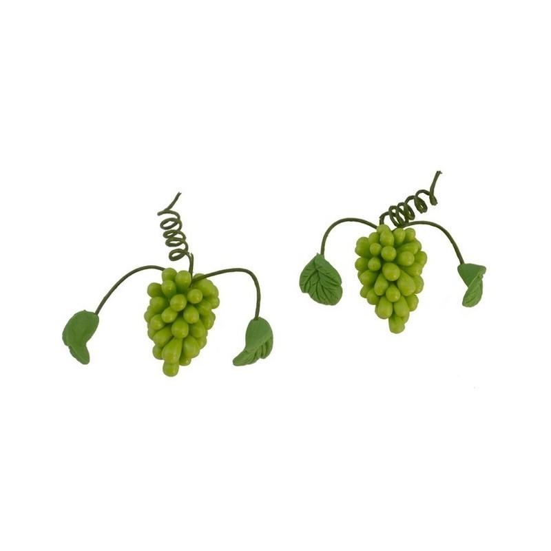 Mondo Presepi Set 2 grappoli d'uva bianca